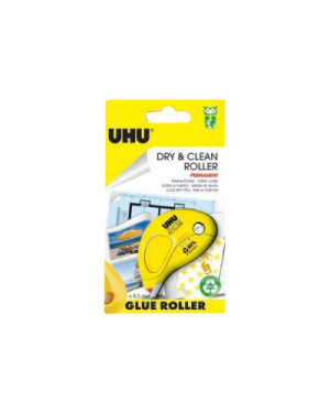 Colla a nastro dryclean roller 6.5mmx8.5mt permanente in blister uhu D1672_67259 by Uhu