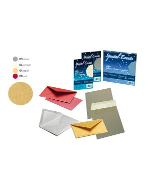 Blister 5buste+5biglietti f.to 17x17cm rosso 08 special events A57C178 8007057747973 A57C178_67285 by Esselte