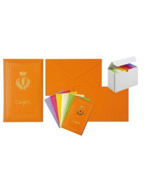 Taschetta 10biglietti+10buste f.to 9 9x14cm capri colori assortiti 8020 67576 A 8020_67576 by Rex Sadoch