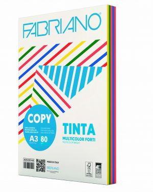 Carta copy tinta multicolor a3 80gr 250fg mix 5 colori forti 62629742_67753