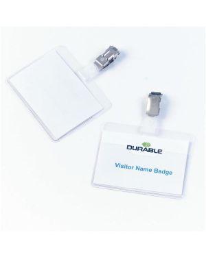 25 portanome tasca aperta 60x90mm clip in metallo durable 8106-19_68002 by Esselte