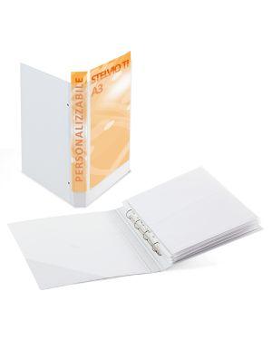 Raccoglitore stelvio ti 25 4d a3 30x42cm libro bianco personalizzabile sei rota 36255001_68025 by Esselte