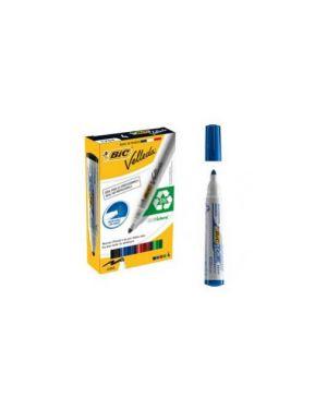 Stuccio 4 marcatori p.tonda whiteboard velleda® 1701 recycled bic® 904941_68065