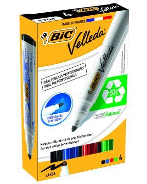 Astuccio 4 marcatori p.tonda whiteboard velleda® 1701 recycled bic 904941 3086120017040 904941_68065 by Bic