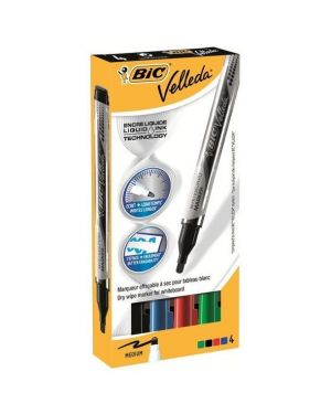 Astuccio 4 marcatori p.tonda whiteboard velleda® liquid ink pocket bic 902094 3086123307193 902094_68066 by Bic