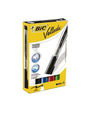 Astuccio 4 marcatori p.tonda whiteboard velleda® liquid ink tank bic 902099 3086123307247 902099_68067