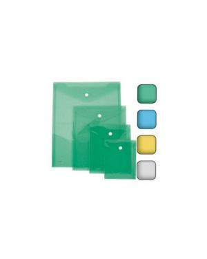 Busta con bottone a5-vert. 18x25cm colori assortiti lebez Confezione da 12 pezzi 80198_68145 by Lebez