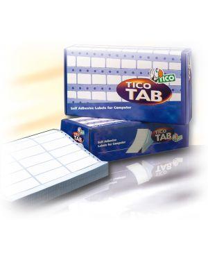 Scatola 4000 etichette adesive tab1 0893 89x36,2mm corsia singola tico TAB1-0893_68177
