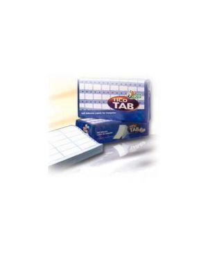 Scatola 4000 etichette adesive tab1 0723 72x36,2mm corsia singola tico TAB1-0723_68180