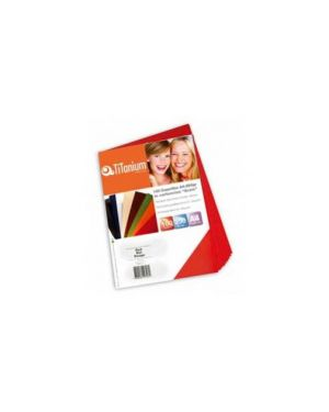 100 copertine a4 cartoncino goffrato 250g rosso titanium PB250-12T_68472 by Titanium