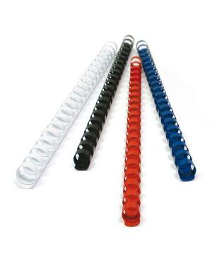 100 dorsi plastici 21 anelli 8mm rosso titanium PB408-03T 8025133034403 PB408-03T_68482 by Esselte