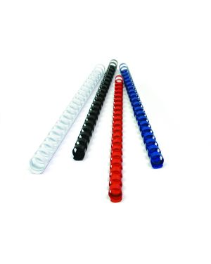 100 dorsi plastici 21 anelli 10mm bianco titanium PB410-01T 8025133034441 PB410-01T_68484 by Esselte