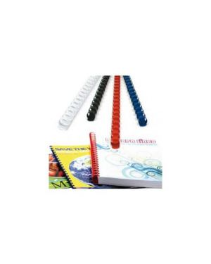 50 dorsi plastici 21 anelli 22mm nero titanium PB422-02T_68501