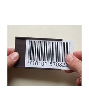 Blister 20 portaetichette magnetiche 30x75mm markin Y230CP07530 8007047047182 Y230CP07530_68666