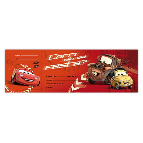 Blocchetto 10 inviti alla festa cars 2 disney sadoch WYASSCAR  WYASSCAR_69530 by Esselte