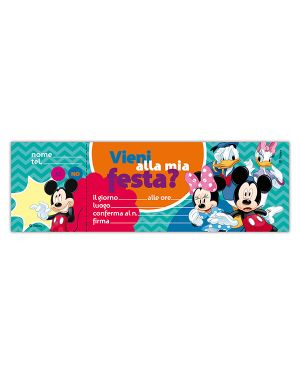 Blocchetto 10 inviti alla festa mickey disney sadoch WYASSDIS  WYASSDIS_69536 by Esselte