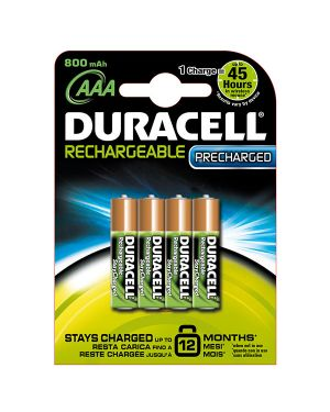 Blister 4 pile ricaricabili b4 - ministilo 800mah duracell duralock precaricata 81364755 5000394203815 81364755_70167