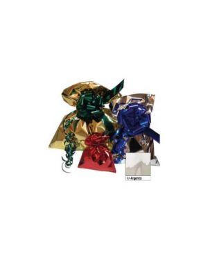50 buste regalo in ppl metal lucido 35x50cm argento senza patella adesiva U-011ANN Y8NNN_70910
