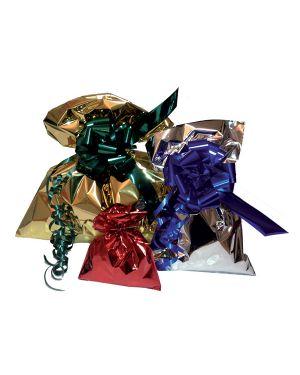 50 buste regalo in ppl metal lucido 35x50cm argento senza patella adesiva U-011ANN Y8NNN 8013170077460 U-011ANN Y8NNN_70910