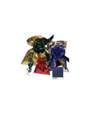 50 buste regalo in ppl metal lucido 16x25cm blu senza patella adesiva U-814ARR Y2NBL_70916