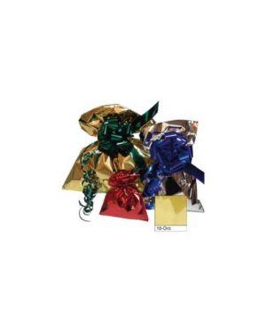 50 buste regalo in ppl metal lucido 20x35cm oro senza patella adesiva U-814ARR Y20AD_70920