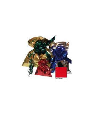 50 buste regalo in ppl metal lucido 20x35cm rosso senza patella adesiva U-814ARR Y20RO_70921