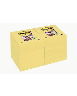 Blocco 90foglietti post-it®super sticky giallo canary™ 47,6x47,6mm 622-12ss-cy 81398 71247 A 81398_71247 by Esselte