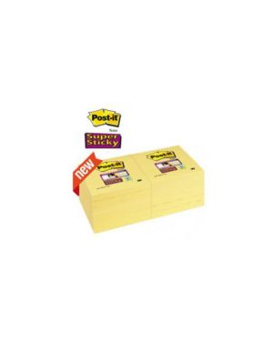 Blocco 90foglietti post-it®super sticky giallo canary™ 76x76mm 654-12ss-cy Confezione da 12 pezzi 81369_71248 by Post-it