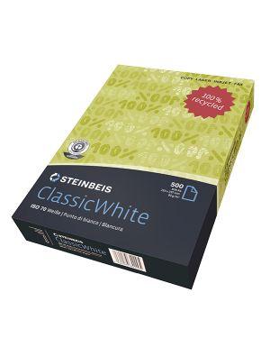 Carta steinbeis classic white a4 80gr 500fg 100 riciclata CONFEZIONE DA 5 6831_71479