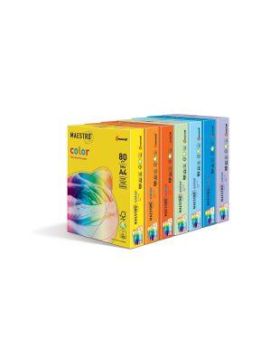Carta maestro color a4 210x297mm 160gr 250fg arancio forte or43 mondi 7220_71512