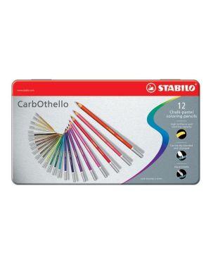 Astuccio metallo 12 carbothello colori assortiti stabilo 1412-6 4006381279574 1412-6 by Stabilo