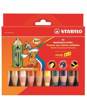 stabilo woody 880 colori ass Stabilo 880/10 4006381185646 880/10
