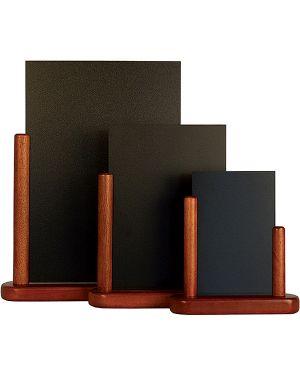 Lavagna da tavolo mogano a6-15,5x17x5cm elegant securit ELE-M-SM 8717624241246 ELE-M-SM_71655