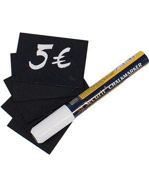 Set 20 tag nere 5,2x7,4cm (a8) securit TAG-A8-WT 8718226491466 TAG-A8-WT_71669