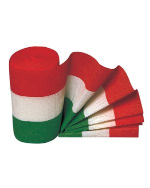 3 rotoli carta crespa tricolore 10mt x 10cm sadoch KT1X1 8006715253009 KT1X1_71764