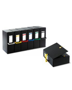 Scatola archivio big next 120 nero - giallo 25x35cm dorso 12cm 68101206 8004972023717 68101206_71818 by Sei Rota