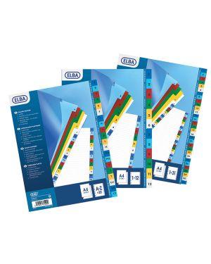 Separatori numerici 1 31 a4 in ppl colorato 120mic 100204790_71852 by Esselte