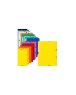 Cartella con elastico 24x32cm turchese cartoncino lustre' 425gr Confezione da 25 pezzi 55519E_71867 by Exacompta