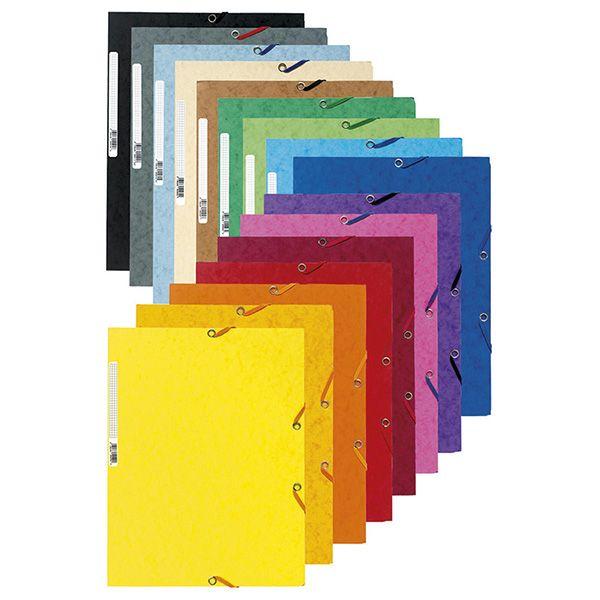 Cartella con elastico 24x32cm rosso ciliegia cartoncino lustre' 425gr 55525E 3130630555254 55525E_71869 by Esselte