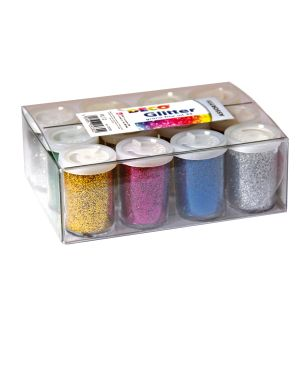 12 flaconi glitter da 25ml 5 colori assortiti 05330 cwr 5330 8004957053302 5330_72115