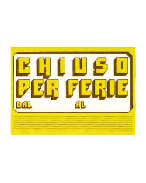 Cartello in cartoncino 'chiuso per ferie' 23x32cm cwr 315 - 6 315/6 72116 A 315/6_72116 by Cwr