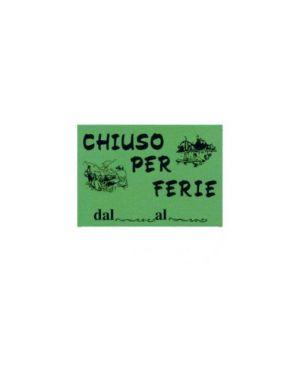 Cartello in cartoncino 'chiuso per ferie' 16x23cm cwr 315/12 Confezione da 10 pezzi 315/12_72117