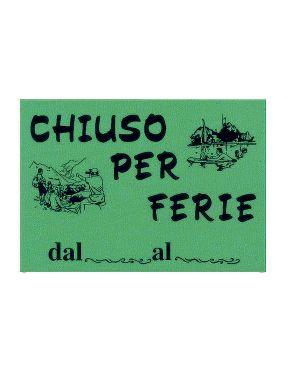 Cartello in cartoncino 'chiuso per ferie' 16x23cm cwr 315 - 12 315/12  315/12_72117