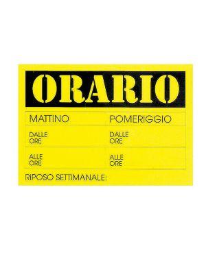 Cartello in cartoncino 'orario dalle..alle..' 23x32cm cwr 315 - 13 315/13 72118 A 315/13_72118 by Cwr