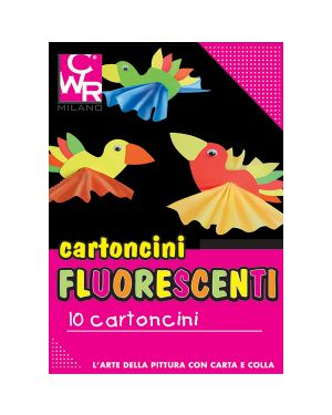 Pack 10 cartoncini fluo 35x50cm 260g colori ass. cwr 334 334 8004957005356 334_72119 by Cwr