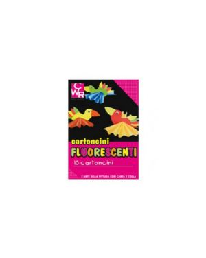 Pack 10 cartoncini fluo 35x50cm 260g colori ass. Cwr 334 334_72119