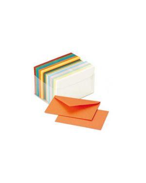 Scatola 100 cartoncini 200gr + 100 buste 90gr arcobaleno formato 4 favini A57X151_72130 by No