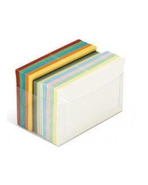 Scatola 100 cartoncini 200gr + 100 buste 90gr arcobaleno formato 4 favini A57X151 8007057745405 A57X151_72130 by No