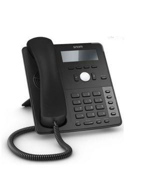 TELEFONO SNOM D712 W/O PS BLACK 4353