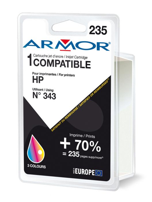 Cartuccia colori per hp n343 psc 1510, 1610, deskjet 5740 22ml B20217R1 3112539219444 B20217R1_ARMH343 by Armor